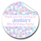 1xA4 Sheet Personalised Bokeh Rainbow dots Birthday Party bags labels STICKERS