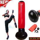 Inflatable Punching Bag Strength Training Stand Boxing Workout+Pump Fitness US