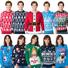 Christmas Xmas Womens Mens Unisex Retro Knitted Jumper Sweater Novelty Fairisle