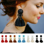 Vintage Thread Tassel Fringe Ear Stud Women Drop Dangle Earrings Jewelry Fashion
