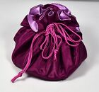 Silk Satin Mini Handmade Jewelry Cosmetic Wristlet Handbag Purse