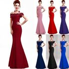 Long Lace Evening Dress Cocktail Party Formal Dresses Prom Gown Bridesmaid Ball