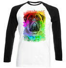 CHOIT BULL MASTIFF - NEW BLACK SLEEVED BASEBALL COTTON TSHIRT