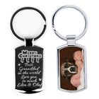 Personalised Custom Engraving  Keyring Printed Front,Picture text engraved -HD❤❤