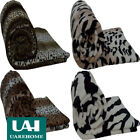 NEW UAREHOME MINK THROW FAUX ANIMAL THROW BLANKET BEDDING DOUBLE KING SOFT WARM