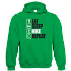 Eat Sleep Hike Repeat Hoodie - Christmas Gift for Him Dad Fathers Day