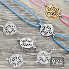 925 STERLING SILVER TINY GEOMETRIC FLOWER 8mm CONNECTOR 2 HOLES BRACELET