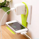 New Folding Phone Charging Rack Holder Wall Charger Adapter Hanger Shelf