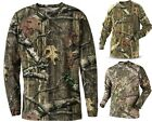 Mens Camouflage Camo LONG sleeve T Shirt Top Real Tree Jungle Forest Print M-6XL