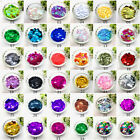 Внешний вид - 350pcs 10mm Sparkle Sequins Round Multicolor Paillettes Sewing Wedding Craft