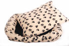 Paw Print Pet Beds Made From a Faux Wool For Cats & Dogs Available in Two Sizes