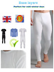 FULL SET MENS THERMAL UNDERWEAR LONG SLEEVE VEST TOP & LONG JOHNS S M L XL XXL
