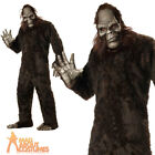 Adult Big Foot Costume Giant Ape Halloween Animal Legend Fancy Dress Outfit New
