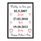 Personalised Framed 'Date of Birth' Print - Beautiful Gift, All Occasions