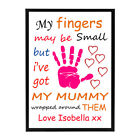 Personalised Framed 'Mother/Father's Day' Print - Beautiful Gift, All Occasions