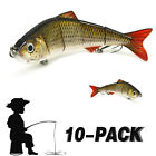 Mental Minnow Lures Spinner Baits/Pikes/Trout Lures Fishing Hooks Tackle Kit Lot