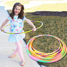 Multi Color Stripe Hula Hoops Durable Plastic Kids Adults Fitness Gym Exercise