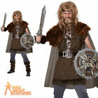 Adult Mighty Viking Warrior Costume Deluxe Mens Fancy Dress Outfit Stag New