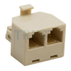 2/3-Way Phone Duplex/Triplex Telephone Line Jack Line Splitter Adaptor