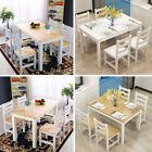 4-6 Seater Dining Table and 4 Chairs Bench Dining Set Wooden Furniture Kitchen