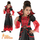 Vampire Queen Kids Vamp Costume Girls Halloween Vampiress Fancy Dress Outfit New