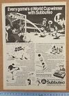 SUBBUTEO vintage football Rugby Cricket magazine advert pictures - Various