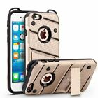 Luxury Rubber Shockproof Hard Bumper Cover TPU+PC Stand Case For iPhone 6 7 Plus