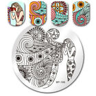Nail Art Stamping Plates Halloween Christmas Templates Dream Catcher Leaf Image