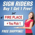 pro rider golf trolley review - FIRE PLACE Sign Rider + You Pick 1 Extra Sign 6
