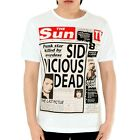VICIOUS SUN Sex Pistol/ Mens, White, T-Shirt