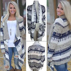 Women Irregular Waterfall Cardigan Long Sleeve Casual Poncho Outwear Sweats Tops