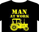 T shirt up to 5XL Tractor Man at work vintage classic veteran Massey John Deere