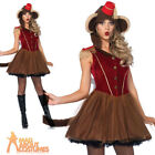 Adult Wind Up Monkey Costume Ladies Animal Fancy Dress Outfit New by Leg Avenue