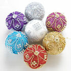 8CM Christmas Rhinestone Glitter Baubles Ball Xmas Tree Ornament Decoration