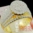 Ladies Wedding Bridal Ring 14K Yellow Gold Over Silver Diamond Engagement Band