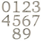 "Large 5"" Satin Nickel Metal Flush House Address Numbers, Bold Readable Font"