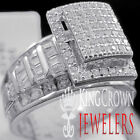 10K White Gold Over Silver Ladies Bridal Ring Wedding Engagement Diamond Band