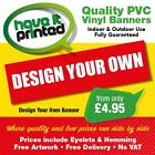 PVC Advert Banners Business Sign Advertising Banners Shop Banners Free Artwork