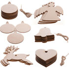 Christmas Gifts Blank Wooden Shapes Craft Heart Tree Decorations Ornaments X10