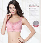 Women Full Coverage Ultra-thin Lace Push Up Bra Big Size 40-52 E F G Q121