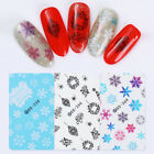 Christmas Snowflakes Nail Art Water Decals Transfer Stickers  Decoration