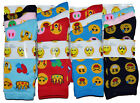 WOMENS LADIES GIRLS EMOJI COTTON SOCKS 6 PAIRS ICON CARTOON SIZE 4-7 EU 35-39