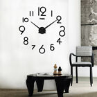 3D Mirror Surface Wall Clock Luxury DIY Classic number time Sticker Living Decor