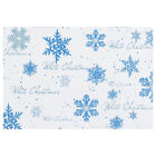 162mm x 229mm C5 White Festive Christmas Card Envelopes Blue Snowflake Design