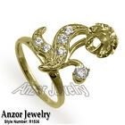 Russian Style Diamond Ring Semi-Mount in 18k Solid Yellow Gold Style #1536.