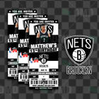 Brooklyn Nets Ticket Style Sports Party Invites on eBay