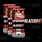 Portland Trail Blazers Ticket Style Sports Party Invites on eBay