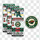 Minnesota Wild Ticket Style Custom Sports Party Invitations $35.0 USD on eBay