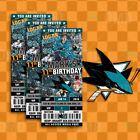 San Jose Sharks Ticket Style Custom Sports Party Invitations $25.0 USD on eBay