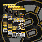 Boston Bruins Ticket Style Sports Party Invites $25.0 USD on eBay